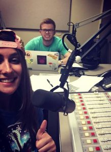 WVUA-FM Arielle Rimoldi and Ben Lankford